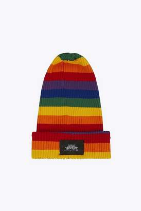 Marc Jacobs Rainbow Striped Knit Beanie