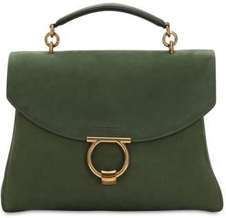 Salvatore Ferragamo Margot Suede Top Handle Bag