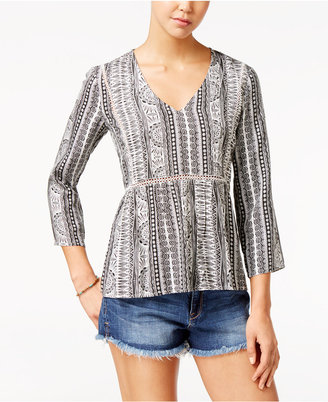 Roxy Juniors' World Turning Printed Top $44.50 thestylecure.com