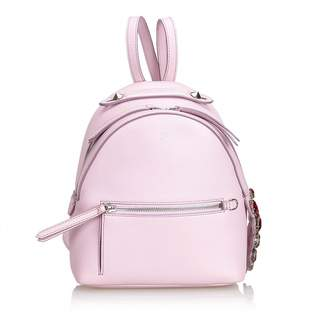 dd21a30fdd72 Fendi By The Way Pink Leather Backpacks