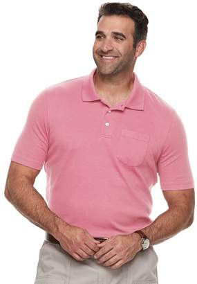 Croft & Barrow Big & Tall Classic-Fit Easy-Care Interlock Pocket Polo