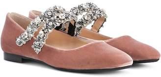 No21 Kukka embellished velvet ballerinas Shopping Online High Quality SlPEI