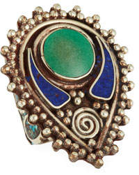 Devon Leigh Lapis & Turquoise Ring