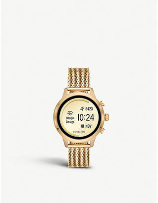 MKT9074 Runway yellow-gold plated stainless steel smartwatch