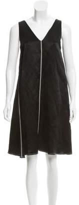 Lanvin A-Line Linen Dress