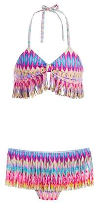 Pilyq Moorea Fringe Skirt Two-Piece Swimsuit