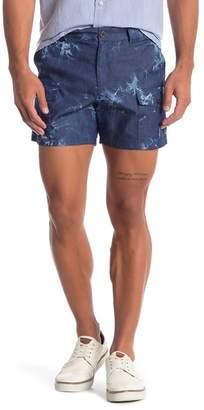Parke & Ronen Tie-Dye Cargo Shorts