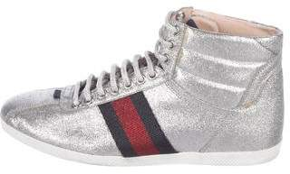Gucci Glitter High-Top Sneakers