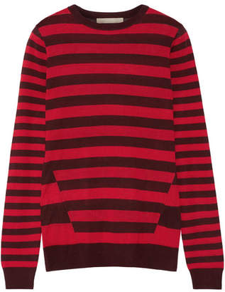 Jason Wu - Striped Silk Sweater - Red $550 thestylecure.com