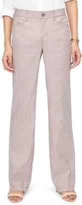 38fa4e83c4c NYDJ Stripe Linen   Cotton Trousers