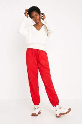 Urban Outfitters Red Tech Joggers - red XS at