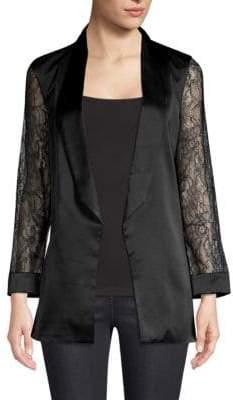 CAMI NYC Liv Silk& Lace Blazer