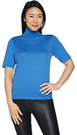 Joan Rivers Classics Collection Joan Rivers Lightweight Turtleneck Sweater withElbow Sleeves