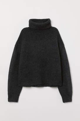 H&M Knit Turtleneck Sweater - Gray