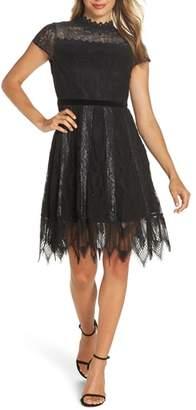 Foxiedox Maisie Lace & Velvet Cocktail Dress