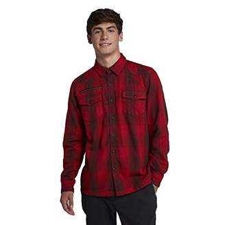 Hurley Men's Kyoto Heavy Weight Plaid Flannel Button Up Shirt