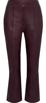 Iris & Ink Axel Leather Kick-flare Pants