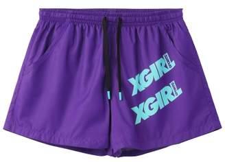 X-girl (エックス ガール) - エックスガール PERFORMANCE SHORTS OBLIQUE LOGO