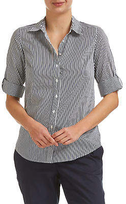 Sportscraft NEW Womens Lily Voile Stripe Pattern Blouse - Elegant Fashion Outfit