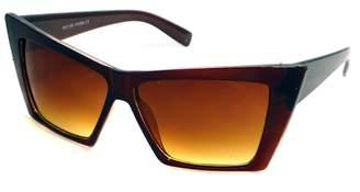 Moda HIGH Pointed Cat Eye Sunglasses Sharp Geometric Square Frame Cateyes