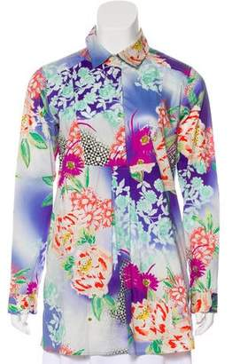 Etro Floral Pleated Top