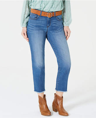 Style&Co. Style & Co Petite Mid-Rise Curvy-Fit Raw-Hem Jeans