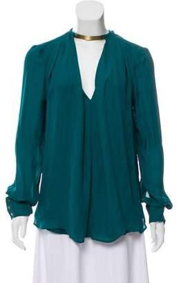 Plein Sud Jeans Silk Long Sleeve Top w/ Tags