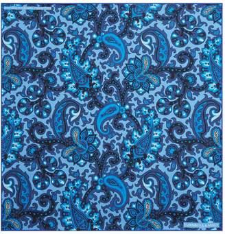 Turnbull & Asser Paisley Print Silk Pocket Square