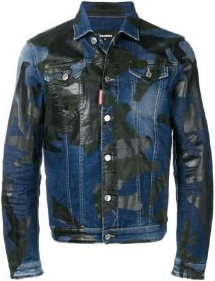 DSQUARED2 camouflage print denim jacket