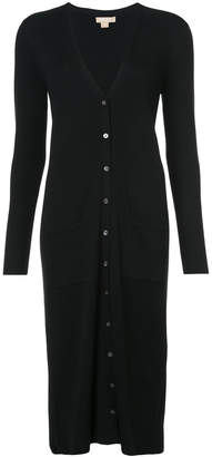 Michael Kors long button front cardigan