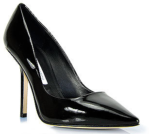 Diane von Furstenberg - Bang - Black Patent Leather Pump