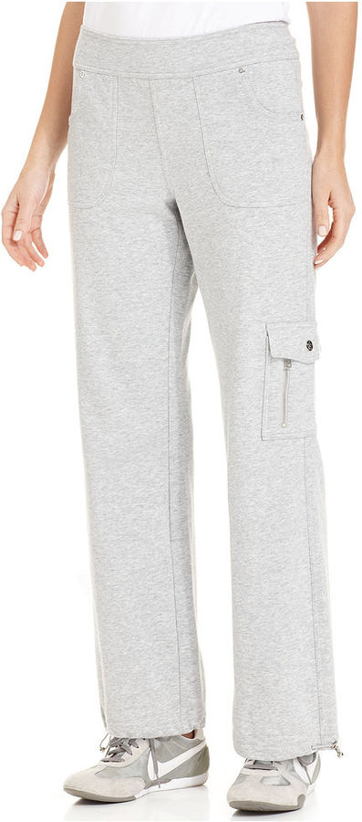 Style&Co. Sport Petite Pants, Zippered Cargo Active