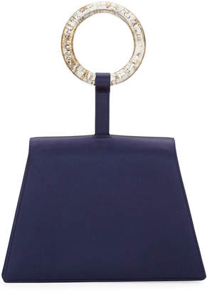 Carolina Santo Domingo Satin Bangle Clutch Bag