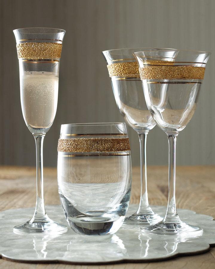 Horchow Four Carolina Wine Goblets