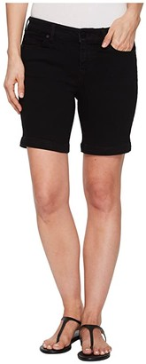 Liverpool Kristy Shorts in Soft Stretch Denim in Black Rinse