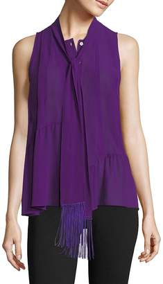 Derek Lam Women's Silk Tassel Blouse