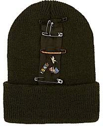 Albertus Swanepoel Women's Nancy Pin-Embellished Wool Beanie - Dk. Green