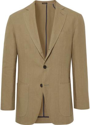 Rubinacci Sage Unlined Linen Blazer