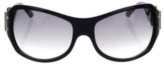 Jimmy Choo Gradient Logo Sunglasses
