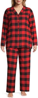SLEEP CHIC Sleep Chic 100 Flannel Plaid Pajama Pants