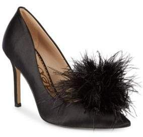 Sam Edelman Haide Satin Feather Pumps