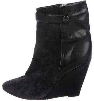 Isabel Marant Suede & Leather Wedge Booties