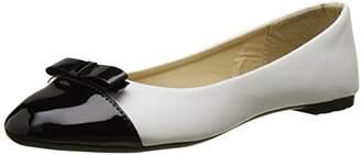Scala Initiale Women's Closed Toe Ballet Flats,37