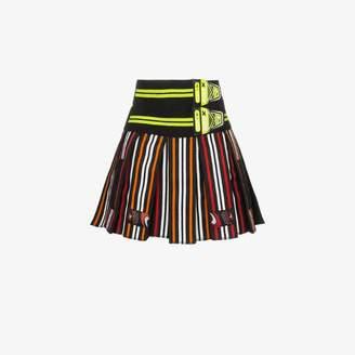 76be85aeb Chopova Lowena High-waisted striped pleated mini skirt