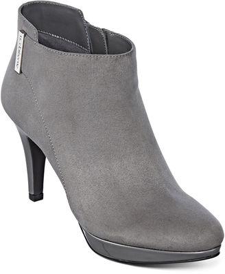 LIZ CLAIBORNE Liz Claiborne Emma Heeled Ankle Booties $100 thestylecure.com