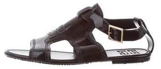 Givenchy Rubber Ankle Strap Sandals
