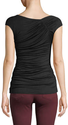 Bailey 44 Teorema Ruched Jersey Wrap Top