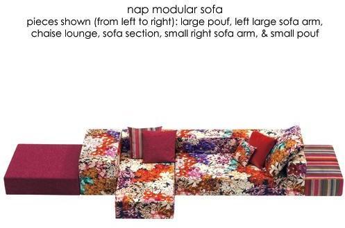Missoni Home - nap modular sofa by missoni home