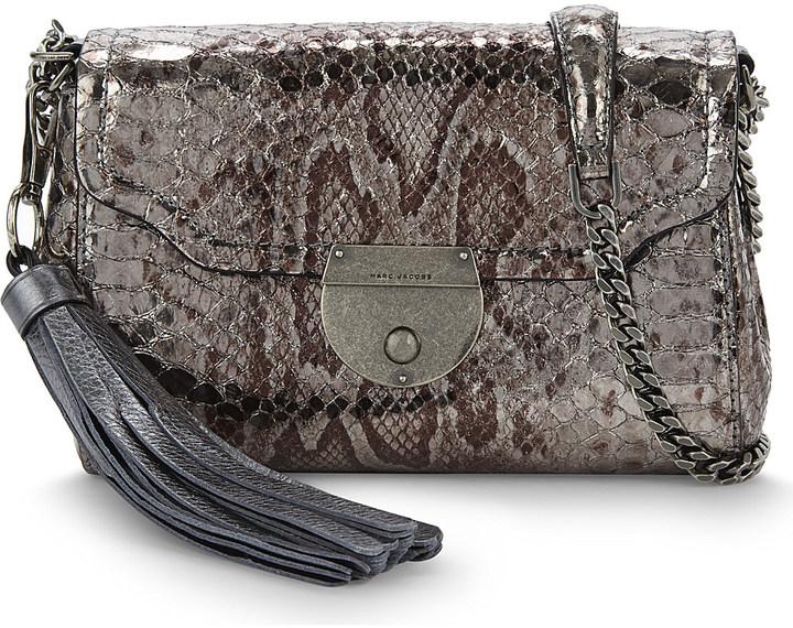 Marc JacobsMARC JACOBS Leather metallic shoulder bag
