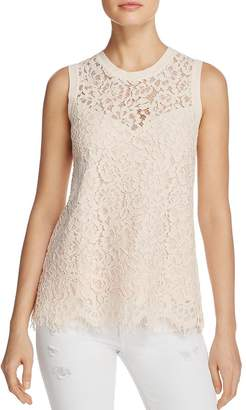 Generation Love Womens Lace Illusion Casual Top Pink S